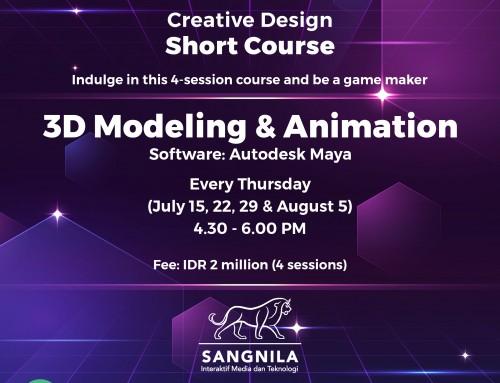 Creative Design Short Course: 3D Modeling & Animation